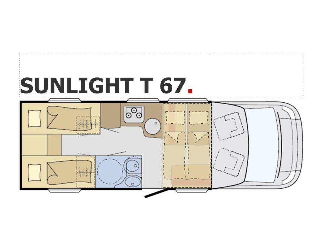 Sunlight T67  Lengtebed, automaat