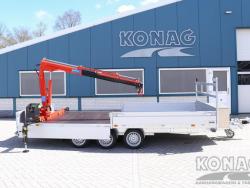 Proline plateauwagen met laadkraan