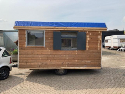 Barents schaftkeet pipowagen bouwkeet
