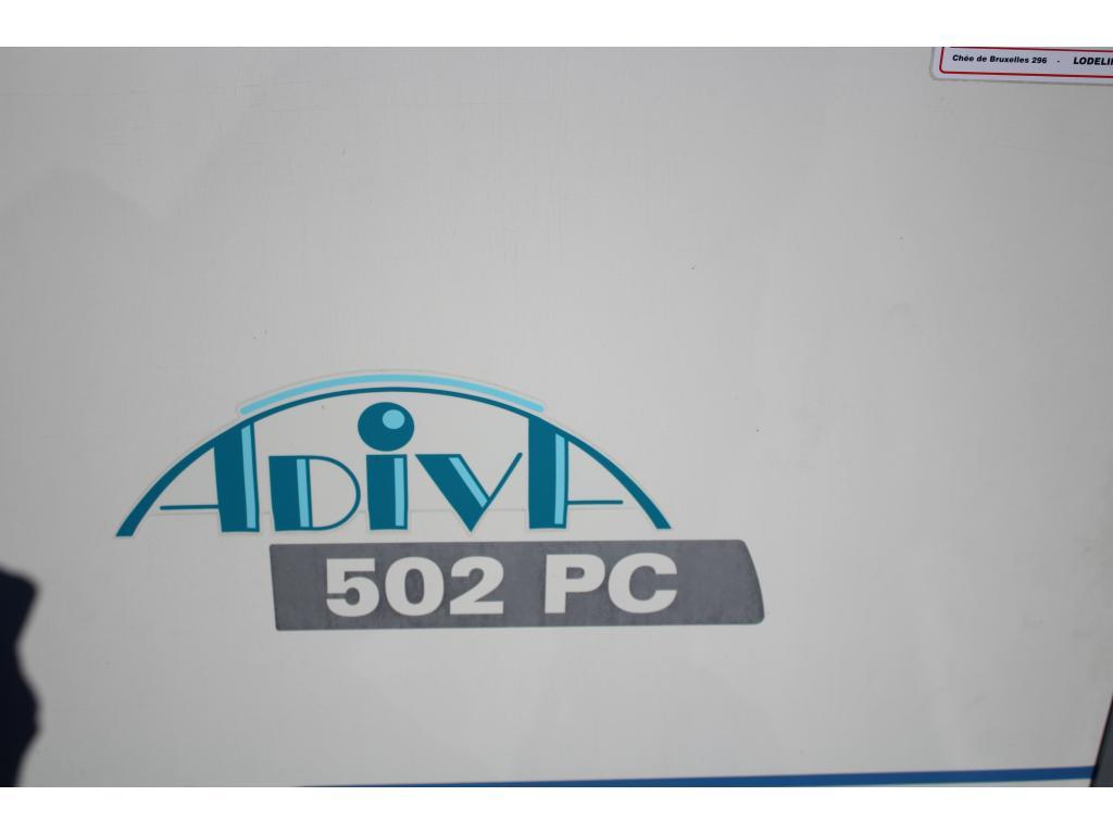 Adria Adiva  502 PC vastbed voortent.
