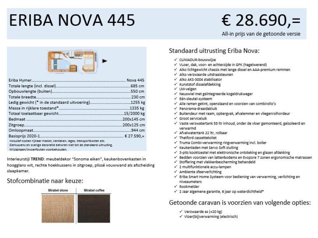 Eriba Nova 445 TREND