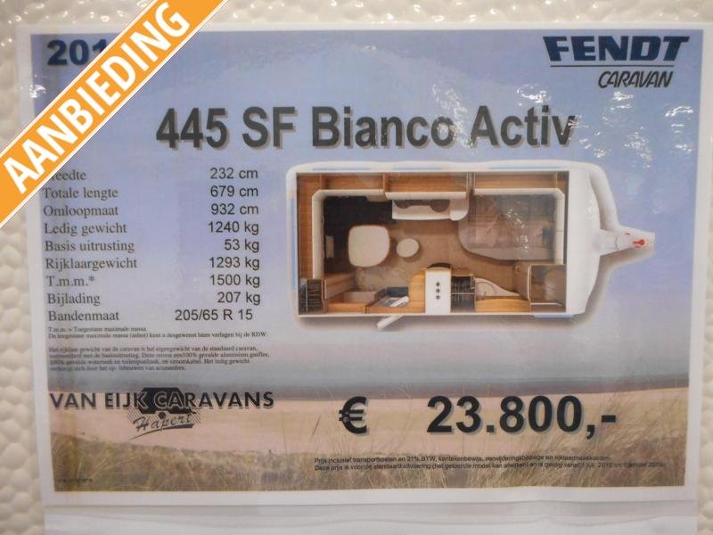 Fendt Bianco Activ 445 SF Modeljaar 2019  Kent 2020