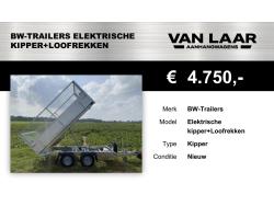 BW-Trailers Elektrische-kipper+Loofrekken