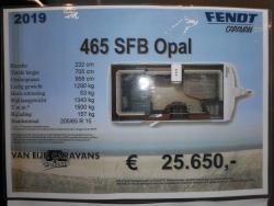Fendt Opal 465 SFB NIEUW MODEL 2019