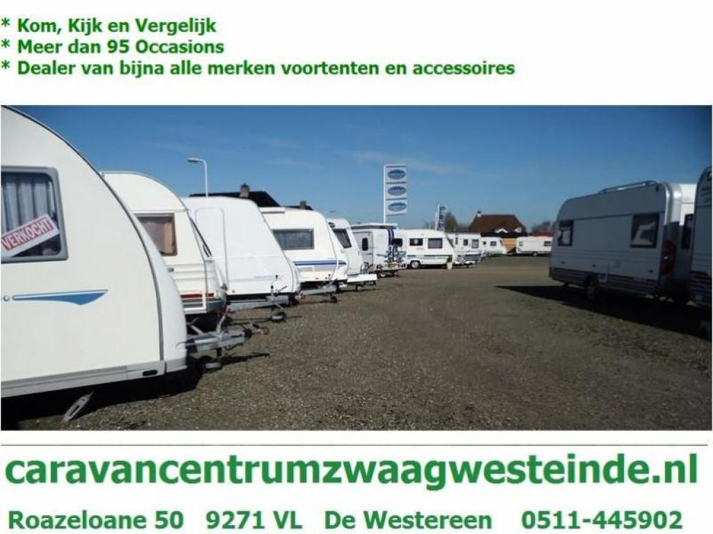 Caravelair Ambiance Style 455 Dwarsbed Zit Tent Toilet