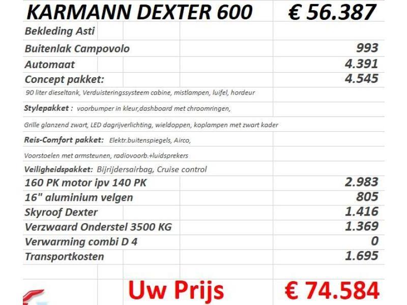 Karmann Dexter 600 Lengtebedden, Automaat