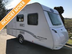 Caravelair Antares Luxe 390 Dwarsbed Treinzit + MOVER