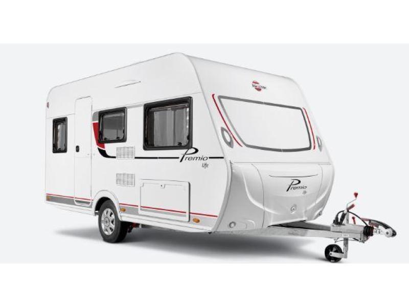 Burstner Premio Life 425 TS (39) vastbed caravan