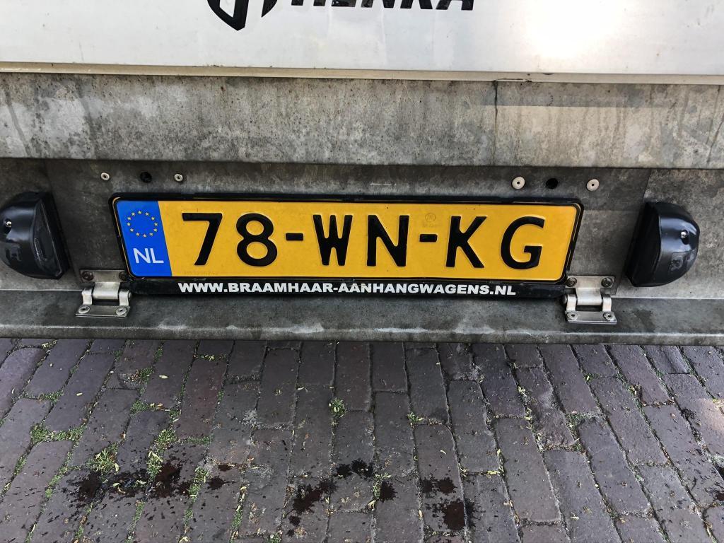 Henra plateauwagen tandemasser