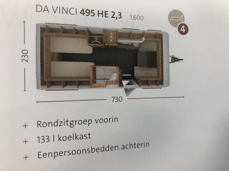 Tabbert Da Vinci 495 HE Enkele bedden